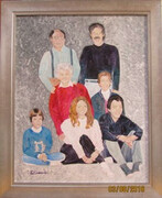Family Portrait, in acrylic on commission